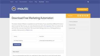 Installing Marketing Automation - Download Mautic