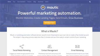 Installing Marketing Automation - Visit Mautic