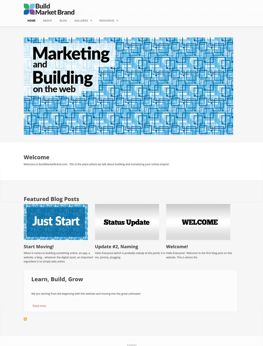Building a Website - Home Page