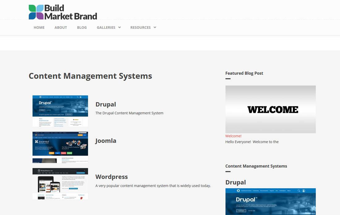 Building a Website - Content Management Systems